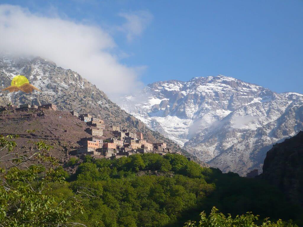 Toubkal view from Imlil