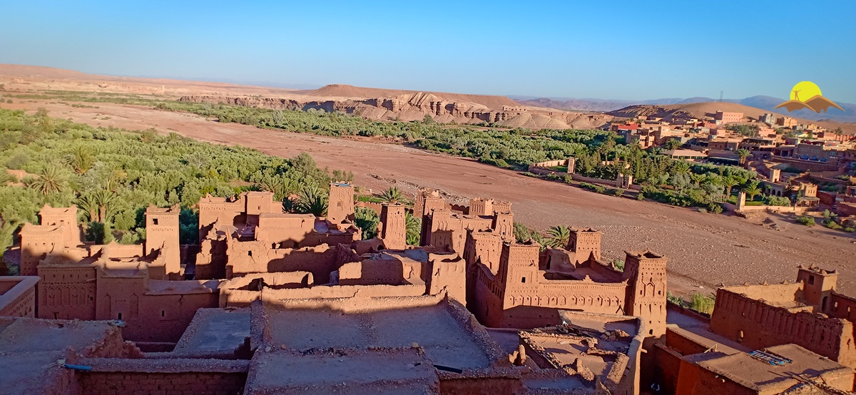 ait benhaddou village sunset