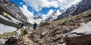 toubkal ascent mule trail