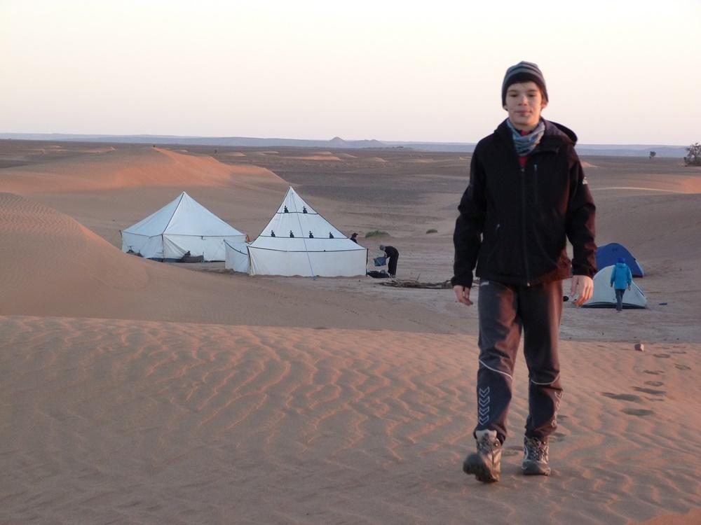 Camping in the desert of Morocco - zagora camel ride