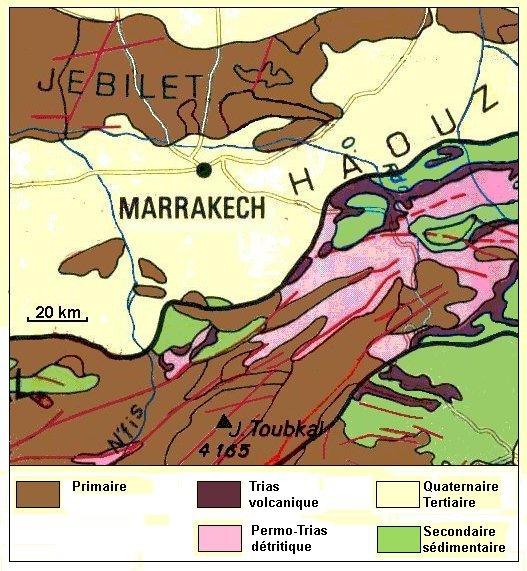 Marrakech map high atlas mountains