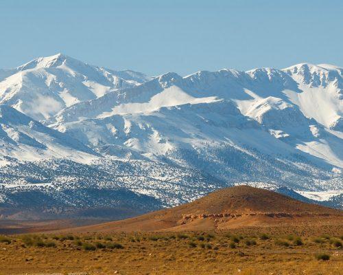 Ayachi Mountain in Eastern High Atlas Mountains