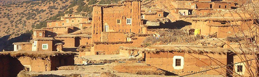 Berber village in ait bouguemez valley