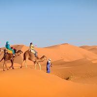 Merzouga Camel ride amazing sand dunes