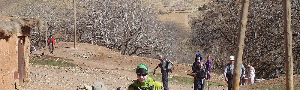 Trekking in Morocco - central high atlas mountains