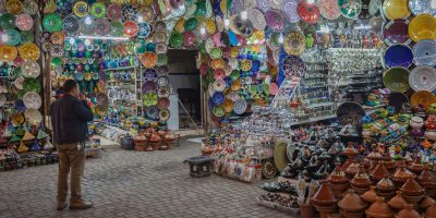 the bazaars Morocco